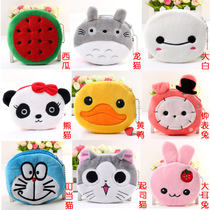 Korea cute cartoon plush coin purse mini arts canvas bags Catwoman student zipper wallets