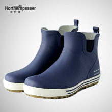 Short-barreled rainshoes, waterproof and warm-keeping, low-top skid-proof shoes, water boots, men's rubber shoes, breathable rainshoes, overalls and shoes in winter