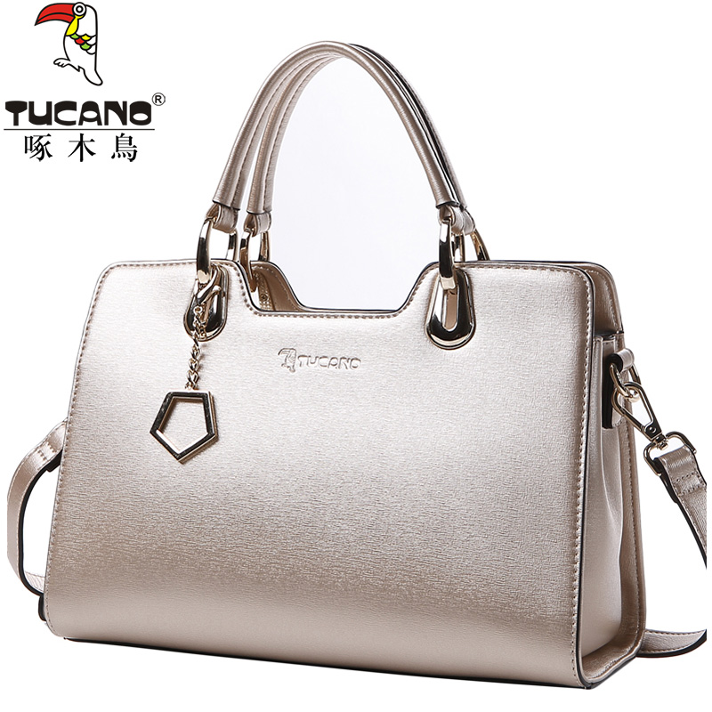 Woodpecker handbag handbag fashion 2018 new tide shoulder bag Messenger bag shell bag female bag big bag