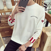 In autumn seven fresh men loose sleeve T-shirt sleeve T-shirt leisure Korean student fashion short sleeved dress