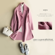 The new autumn and winter wool coat coat female Korean double long section of double wool coat