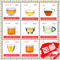 Low-cost sales of heat-resistant glass double-glazed cup to cup magnolia cup coffee cup 10 large small and medium-sized teacup