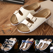 A couple of cork slippers male pinch anti-skid slippers Summer Beach Sandals Flip Flops leisure trend of Korean women