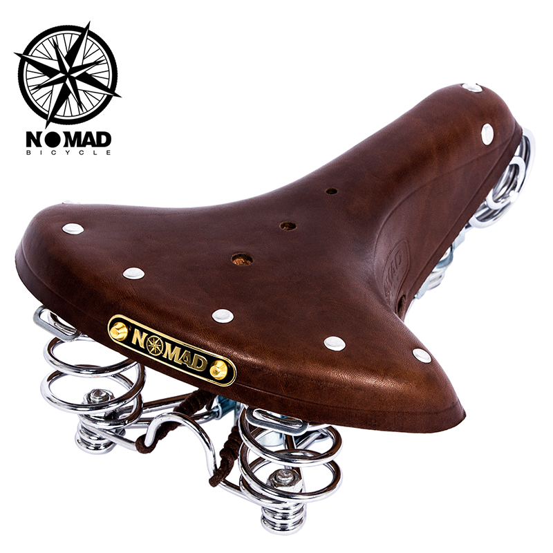 Nomad genuine vintage bicycle accessories vintage bicycle saddle pure cowhide seat cushion Genuine Leather Vintage seat