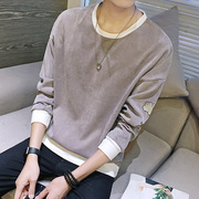 The fall of man long sleeved T-shirt male slim round neck sweater autumn shirt jacket autumn clothes fashion clothes.