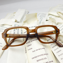 American Army version Alice myopic frame plate retro vintage literary classic spectacle frame black frame