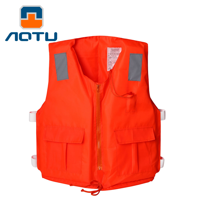 Bump thickening professional adult with pocket zipper life jacket with whistle drifting foam fishing suit swimming vest