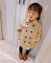 2016 autumn baby child childrens clothing men and women wild casual long double-breasted lapel trench coat jacket coat