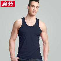 Italy Fen mens vest summer large size loose cotton straddle fitness vest male sleeveless solid color sweatshirts
