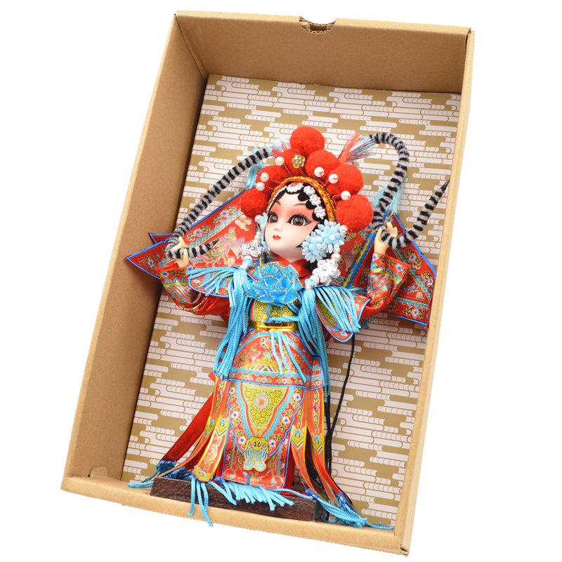 Silk Man Beijing Special Gift Juanren presents Peking Opera Facial Mask Opera characters Peking Opera dolls as gifts abroad