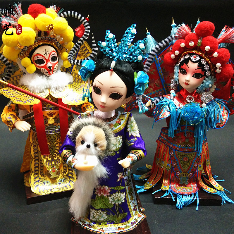 Peking Opera Dolls, Palace Silk Dolls, Traditional Gifts for Foreign Affairs with Chinese Style