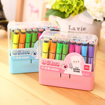 Effective children safe non-toxic seal can be washed coarse head watercolor pen 24 colors 36 colors kindergarten pupils Brush Set Color large sets of water-based color strokes painted color