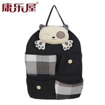 Recreation House cartoon thickened fabric cute door after storage hanging bag wall hanging multi-layer finishing storage bag hanging bag