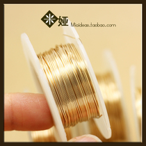 US imports semi-hard soft wire 14K Baojin line Gold injection line letter winding handmade DIY material