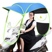 Electric bicycle sunshade awning awning new sealed battery sunscreen windshield rain transparent umbrella