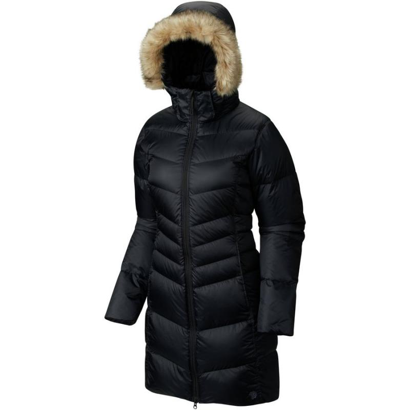 [The goods stop production and no stock]American direct mail Mountain Hardwear B5073T winter long paragraph twill hooded down jacket women