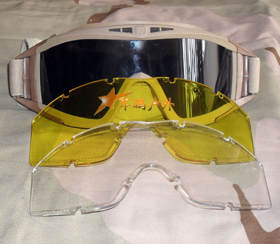 Weatherproof and sand-proof goggles Riding goggles Antifogging goggles Triple lenses Luxury suit of bullet-proof goggles