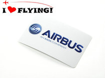 I love flying) AIRBUS Airbus LOGO waterproof bus card sticker horizontal version of the lever box tide sticker.