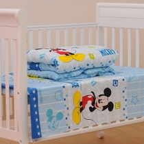 定做 婴儿床幼儿园三件套件床品被套 床单纯棉 被褥天然棉花内芯