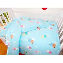 Nursery quilts children three-piece cotton baby napped cotton bedding bedding summer six-core