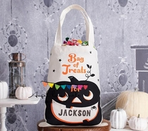 Trick trick us pumpkin candy bag for Halloween Trick or Treat bags bags!