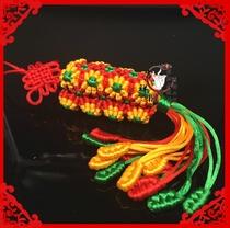 New handwoven diamond knot sunflower diamond knot gesang mulberry flower belt Chinese knot auspicious knot hanging ornaments