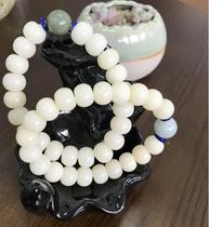 Putuo natural white jade Bodhi root hand string female models beads bracelet goddess of mercy holy blessing blessing peace