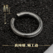 Sterling silver no hole earrings male tide personality mens ear clip male retro non-ear hole antique students without holes false earrings male