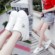 White shoes fall 2017 new flat shoes sports shoes all-match Student Korean fashion shoes Zichao