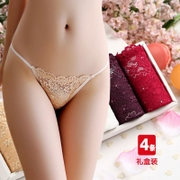 4 Item Boxed Day View Slim Sexy Thong Reality Panties Women Cotton 裆 Горячие росы для волос Г-жа T Pants