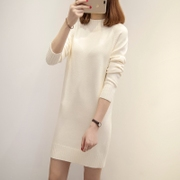 The long winter in the female half Turtleneck Shirt sleeve loose Korean head sweater dress new tide