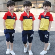 The 3 boys set 2017 new children summer summer 5 7 9 children wear short sleeved 11 two sets of 13 years of age