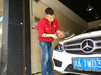 Chengdu Automobile Beauty Decoration Film physical store Mercedes-Benz whole car exquisite lacquer polishing waxing limited time discount