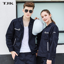 Workwear-resistant autumn suit Men's warm workwear Auto-repair overcoat workshop worker's factory uniform