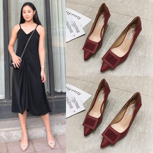 High-heeled Shoes Female Spring and Autumn 2019 New Fashion Red Wedding Shoes Wedding Garment Tip Fine-heeled Fragrant Single Shoes