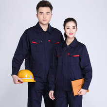 Spring and Autumn Workwear Men's Suit and Women's Wear-Resistant Workwear Factory Workshop Welder's Uniform Customized Workwear