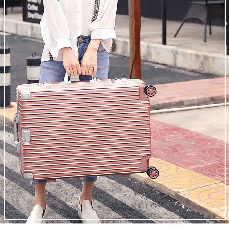 Aluminum frame trolley case male and female universal wheel suitcase Korean version small fresh student suitcase 24 inch 20 inch password box