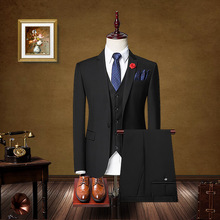 Three piece suit men fall slim type occupation business suits groom wedding dress suit.