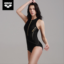 Arena Arina 2019 new black swan series women's one-piece swimsuit conservative slimming hot spring bathing suit