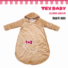 Export baby velvet sleeping bag infants kick-proof by spring and autumn package