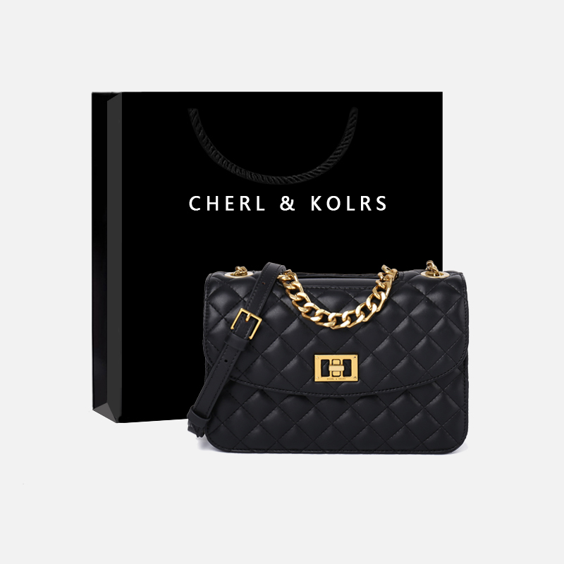 Small ck flagship store official website women's bags 2020 new small fragrance style rhomboid bag fashion shoulder messenger chain bag trend