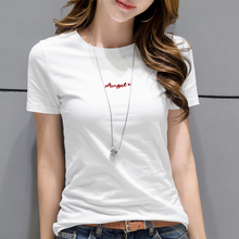 Panya Wind Short Sleeve T-shirt Women's Wear 2019 New Fashion Overfire Cec Pure Cotton Summer