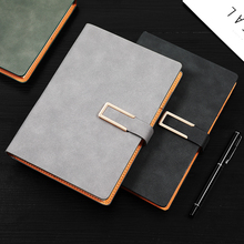 Customized notebook business office notepad a5 college students simple diary b5 work meeting record retro thick buckle sheep leather soft leather face book custom printable LOGO wholesale