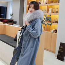 2009 New Style Overcoming the Female Winter Long Rex Rabbit Fur Coat