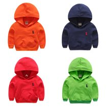 Boys Hooded sweater child color 2017 spring girl children in childrens wear your head baby