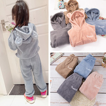 Chaozhou sales of more than 100 guaranteed childrens warm pants set boys plus plus-thick leggings new outer wear