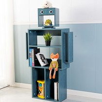 Five-year-old shop eight color creative bookcases floor-to-ceiling cartoon students fashion personality decoration cabinet robot