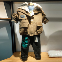 2020 new childrens boys workwear plus plus thick trend