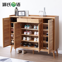 Source of wood-language shoe cabinet shop Nanchang hot sales over thousands of years old shop source of wood-language shoe cabinet pure solid oak locker living room Xuanguan cabinet.