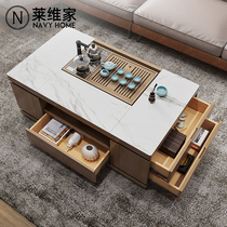2019 new store to ensure smart slate coffee table multi-functional automatic lift marble modern simplicity